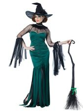 Womens The Grand Sorceress Halloween Witch Costume Ladies Fancy Dress