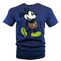 DISNEY Men's T-Shirt MICKEY MOUSE Classic Retro Vintage Disneyland Authentic