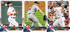 2018 Bowman Red Sox Paper Team Set (Vets, RCs) 3 Cards including Devers RC