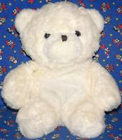 "Vintage AMC Best Friends Bear Plush 1982 White STUFFED TOY 15"" RARE COLOR Lovey"