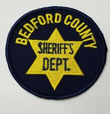 BEDFORD COUNTY SHERRIF (PENNSYLVANIA) SHOULDER PATCH 1987 NEW
