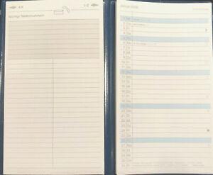 Taschenkalender Lediberg Faltkalender Leporello 2022 blau schwarz