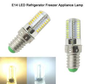 E14 LED Light Bulb 3W 64-3014 SMD 110V/220V Refrigerator Freezer Appliance Light