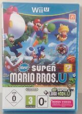 Wii-U New Super Mario Bros + New Super Luigi + bonus videos NEW PAL 2 Wii U WiiU