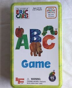 The World of Eric Carle ABC Game Age 3 Plus 2 to 4 Players NEW