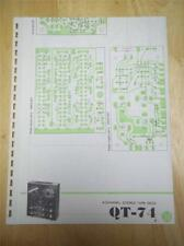 Pioneer Schematic Diagram for Service of the QT-74 Reel Tape Deck~manual