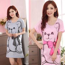 1 pièce femme décontracté dessin animé Chemise de nuit pyjama ensemble