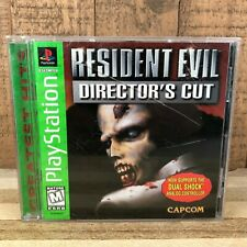 Resident Evil Director's Cut PS1 Green Label - Damaged Case - With Manual
