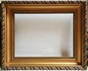 Ancien Cadre de Tableau Bois & Stuc du 19ème Dimensions Logement 40,5 x 30,4 cm.
