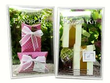 Beverly Clark Collection Lot 2 Favor Kits Treat Bags & Pillow Boxes makes 20