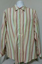 Tommy Bahama Indigo Palms Long Sleeve Button Front Shirt Men's XL Stripes