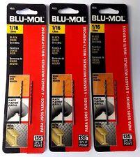 """Blu-Mol 1/16"""" High Speed Drill Bit 6625 3-2 Packs"""