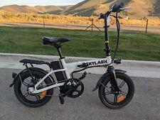 NAKTO Skylark Folding Electric Bicycle 36V 10Ah lithium Battery, White