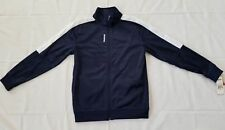 Boys Size Medium Indigo Blue Reebok Full Zip Front Tricot Jacket QBF52178