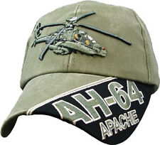AH-64 APACHE Officially Licensed Military Baseball Cap  Hat  OD Green