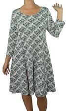 New Jersey Kleid schwarz-weiss Gr. XL tolle A-Form (M200)