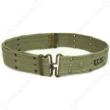 WW2 US Army Military Olive Drab Cotton Canvas Pistol Belt Webbing M1936 USMC OD