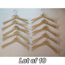 Polo Ralph Lauren Standard Wood Wooden Clothes Hanger Lot of 10