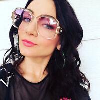 Women Large Retro VINTAGE Square Huge Flat Top Sunglasses Fashion Shades