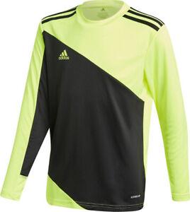 Mens Adidas Squadra 21 Goalkeeper Long Sleeve Solar Yellow Jersey New
