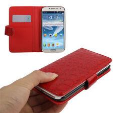Book Tasche Croco Style für Samsung i9500 Galaxy S4 in rot Etui Hülle Case Cover
