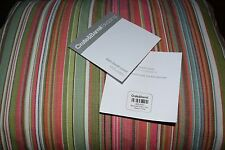 Crate & Barrel Savannah Pink & Green Multi Stripe Twin Duvet Cover 68x86 Display