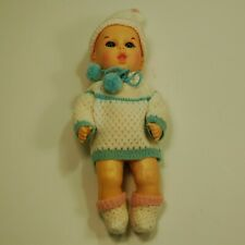 """Vintage Gerber Baby Doll with Original Box Crochet Clothes marked 1983 11"""" Cute"""