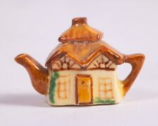 Dollhouse Miniatures ~ Valerie Casson Porcelain Cottage Teapot ~ Made in France