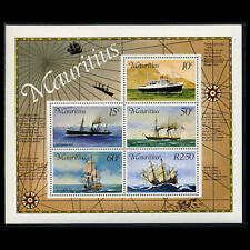 Mauritius, Sc #423a, MNH, 1976, S/S, Ships. Mail carriers, 6FRID