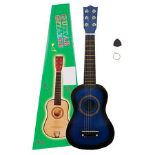 "21"" Beginners Kids Acoustic Guitar 6 String with Pick Children Kids Gift Blue"