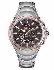 Seiko Men's Coutura Solar Chronograph Two Tone Rose Stainless Watch SSC628
