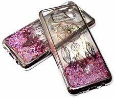 For Samsung Galaxy S8+ PLUS -SILVER Dream Catcher Pink Glitter Liquid Water Case