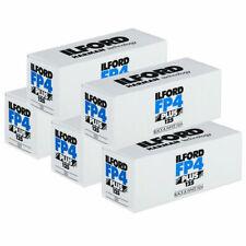 5x Ilford FP4 Plus - 120 Black & White Roll Film
