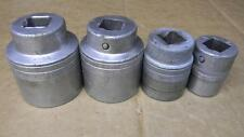 """VINTAGE SNAP-ON 3/4"""" DRIVE DATE CODE OF 1944 """"E"""" 4PC SAE 12PT SOCKETS LDH SERIES"""