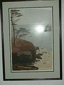 "Anne Tuttle ""The Sea (3)"" Hand Colored Fine Art Print Ltd Edition 174-350 Signed"