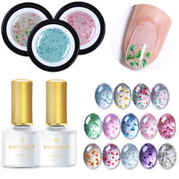 BORN PRETTY 5 Pcs/Set Flower Fairy UV Gel Nail Polish Base Top Coat Soak Off Gel