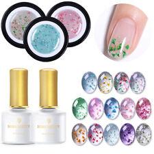 BORN PRETTY 5 Pcs/Set Flower Fairy UV Gel Nail Polish Base Top Coat Soak Off Gel