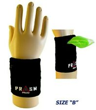 PRASM Unisex Zipper-Pocket Designer Sports Wristbands - L
