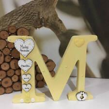 Freestanding Personalised Wooden Letter Handmade New Baby Gift Christening