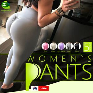 Women's Push Up Yoga High Waist Anti Cellulite Sports Pants Running Trousers