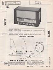 1962 DELMONICO T-11 RADIO SERVICE MANUAL PHOTOFACT SCHEMATIC FM BC SW REPAIR FIX