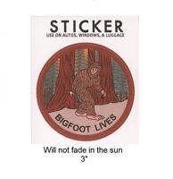 "Bigfoot Lives Vinyl Sticker - Will not fade in the sun, 3"""