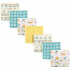 Luvable Friends Unisex Baby Cotton Flannel Receiving Blankets One Size ABC
