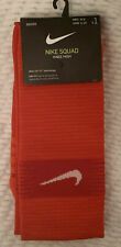 Nike Squad SOCCER Sock KNEE HIGH (Men's 6-8 / Women's 6-10) RED Dri-Fit