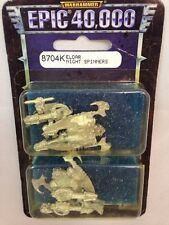 Epic Warhammer 40K 40000 Eldar Night Spinners Spinner Grav Tank  Pewter  Metal