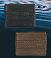 New Quiksilver Wavegarden Mens Faux Leather Bi-Fold Wallet