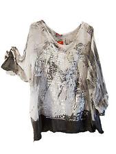 Hüftlange 3/4 Arm Damenblusen, - tops & -shirts im Blusen aus Baumwollmischung