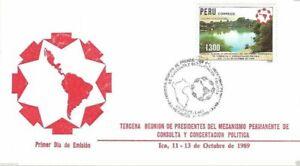 Peru 1989 FDC 3ra Presidentes Mecan. Permanente Consulta y Concertacion Politica