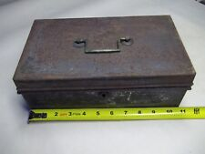 Vintage metal cash box with insert for parts or restore