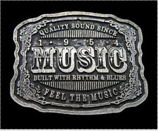 QUALITY MUSIC RHYTHM AND BLUES MUSICAL COOL BELT BUCKLE BOUCLE DE CEINTURE